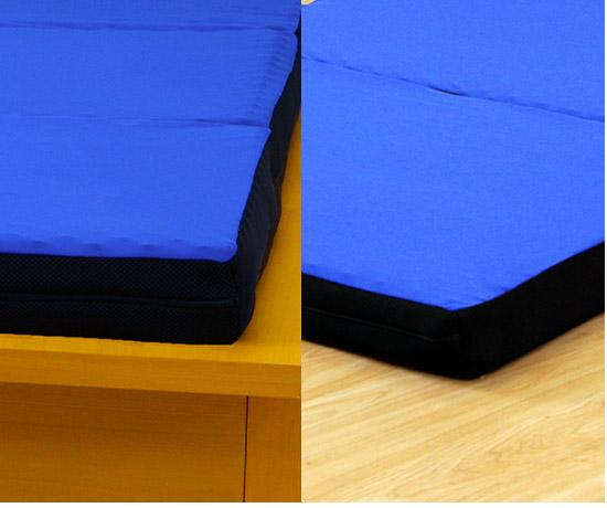 お使いのベッドフレームに乗せてご使用できます。 床に敷いてご使用いただくことも可能です。