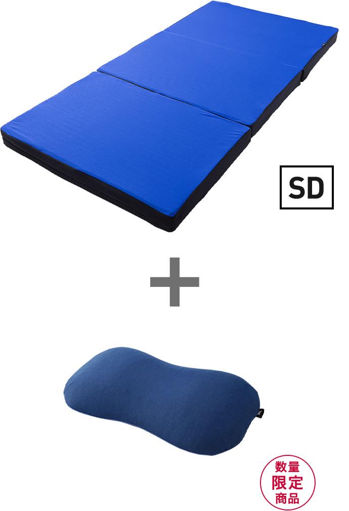 スリープマジック マットレス9.0【セミダブル】+スリープオアシス寝返りサポート枕【現行モデル】
