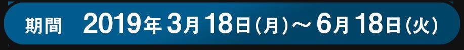 期間 2019年3月18日(月)〜6月18日(火)