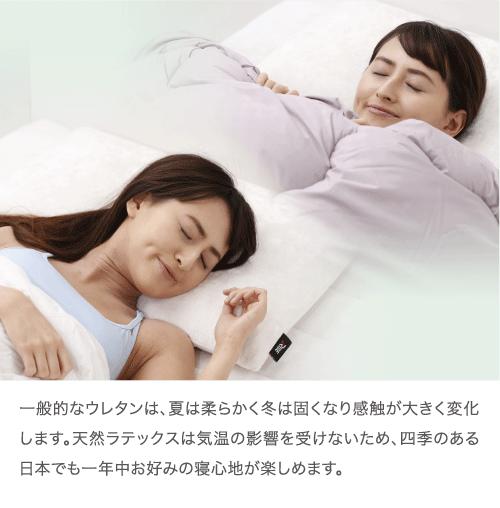 気温に影響されず快適な寝心地